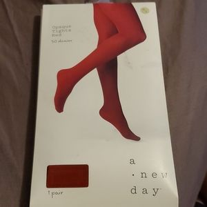 A New Day Opaque Tights Womens Size M / L Red